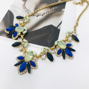J. Crew multi stone statement necklace